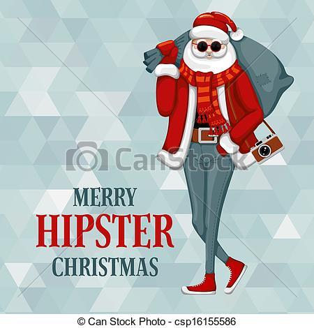 Santa clipart hipster #5
