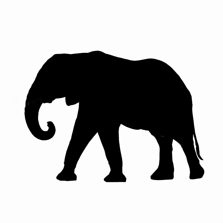 Asian Elephant clipart african elephant Silhouette Clipart Silhouette Clipart elephant