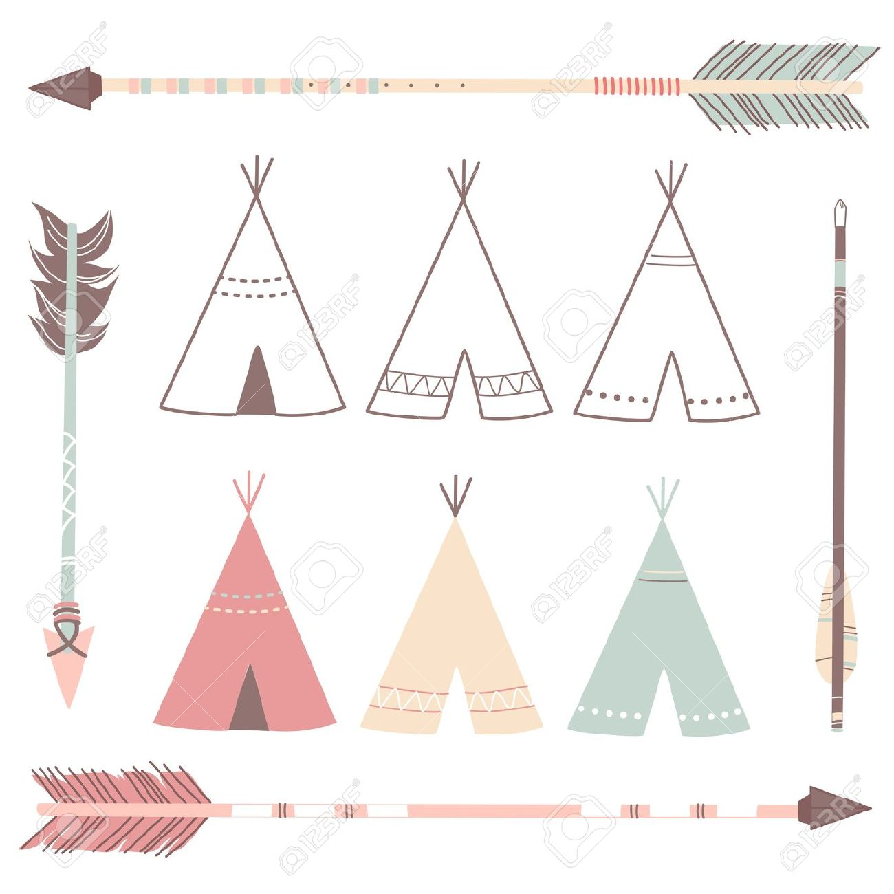 Native American clipart teepee tent A kind to I tiny