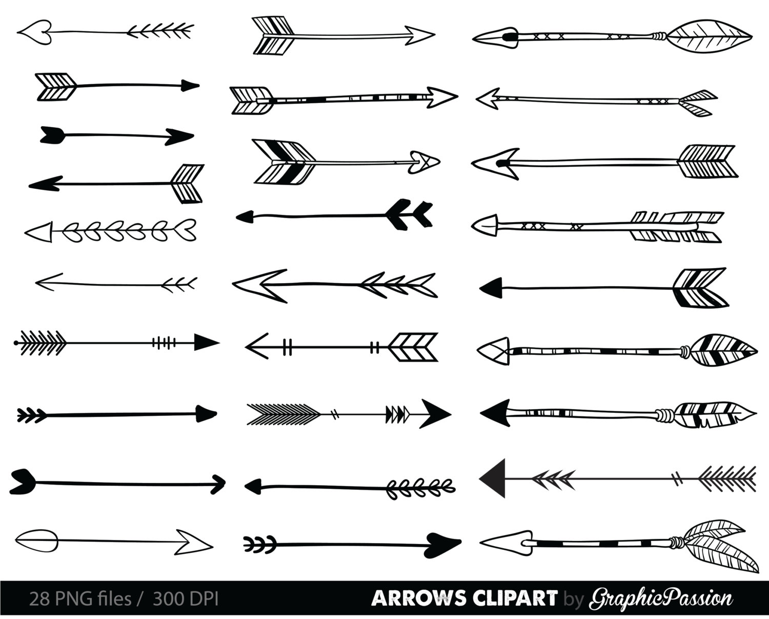 Hipster clipart tribal arrow #12
