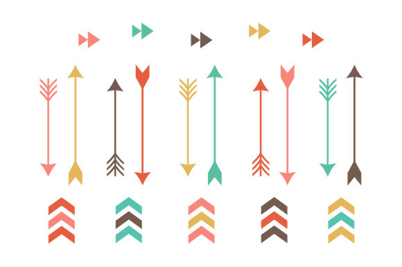 Hipster clipart tribal arrow #10