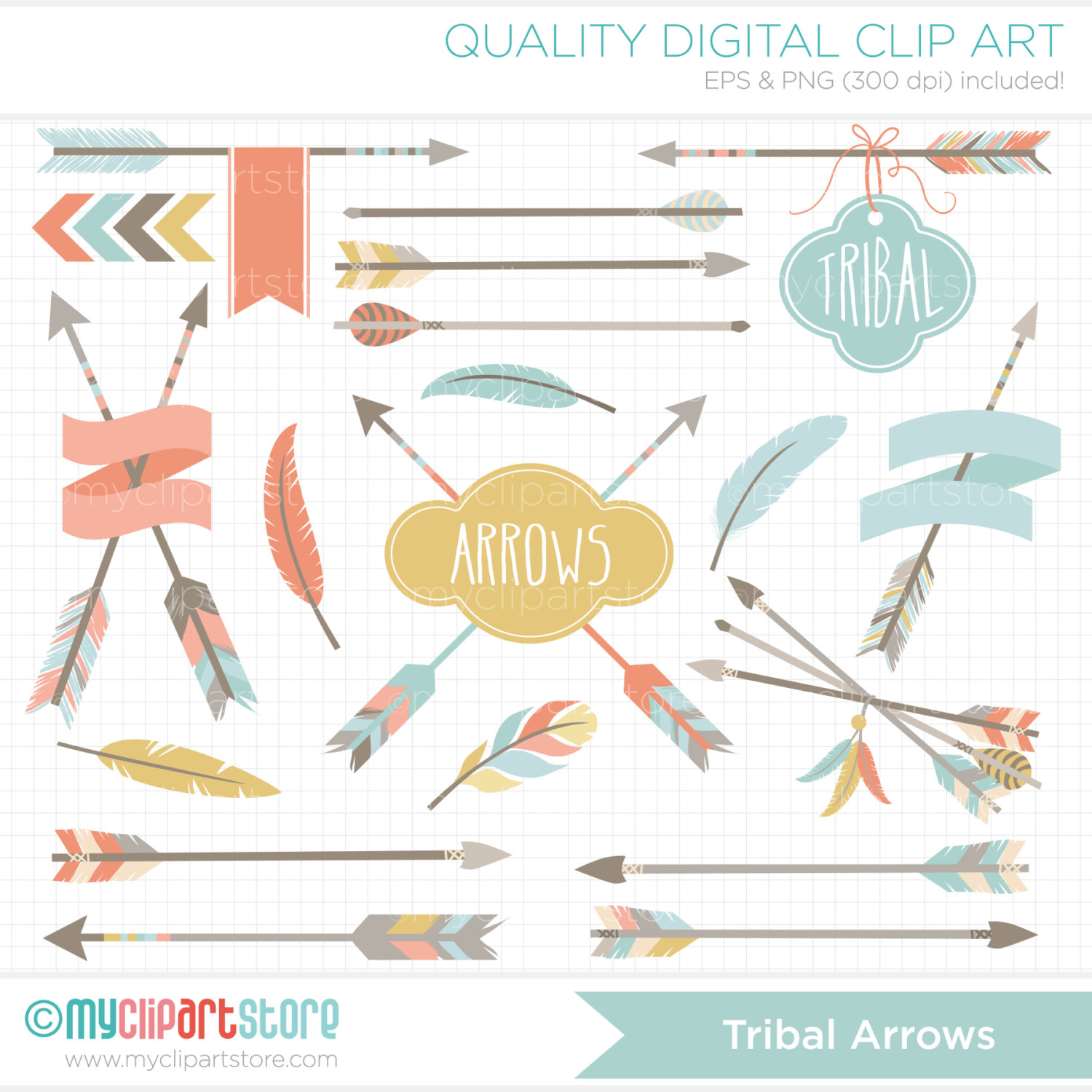 Hipster clipart tribal arrow #1
