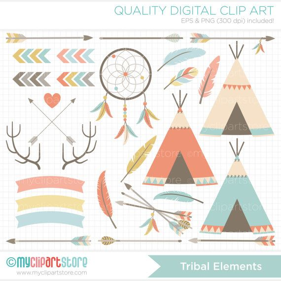 Hipster clipart tribal arrow #2