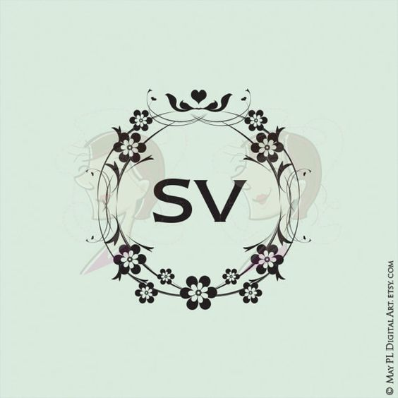 Hipster clipart bicycle Flower frame Vector a piece