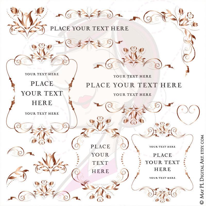 Vintage Flower clipart elegant invitation #5