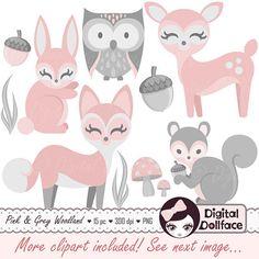 Pink images Deer art woodland