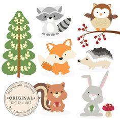 Winter clipart creature Cute Animals Woodland Woodland clip