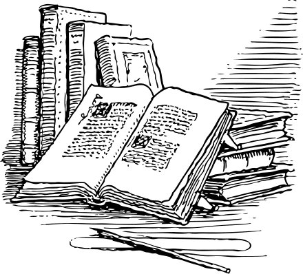 Library clipart novel Open Domain images Book Clipart