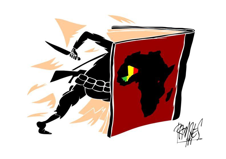 History clipart book cartoon Movement book Mali's history Cartoon