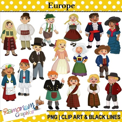 Traditional clipart traditional clothes Europe Historical World Clothes Traditional