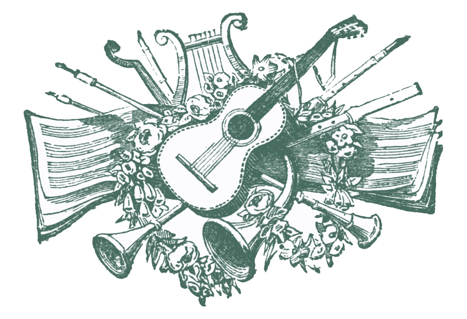 History clipart country Printers Musical Printers Ornaments Clip
