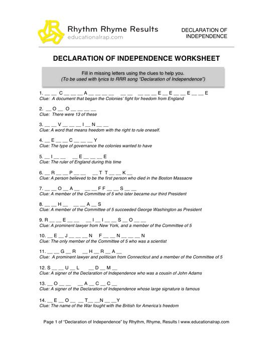 Declaration Of Independence clipart britain And Song Pinterest on Best