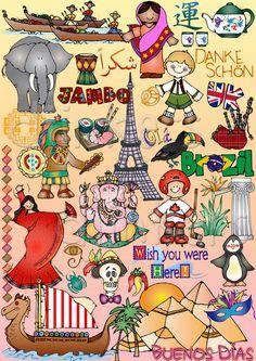 Culture clipart school diversity Clip green art clip cute