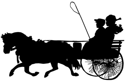 Cart clipart horse and buggy And Clipart Buggy and Horse