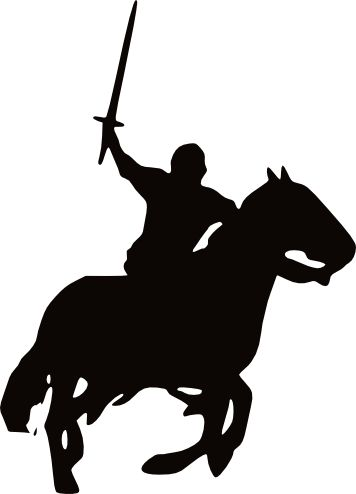 Knight clipart silhouette Medieval Best Images horses Bing