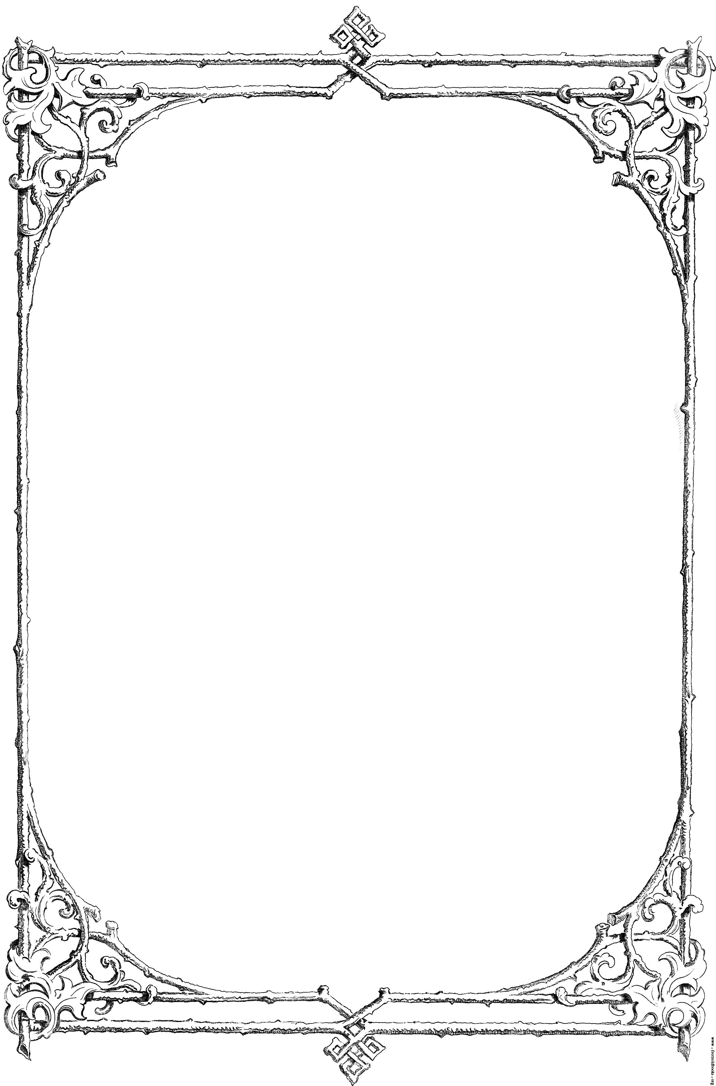 Old Letter clipart cover page Free border of and art: