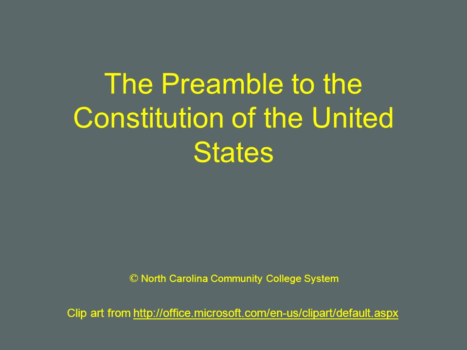 Us History clipart preamble The States the The of