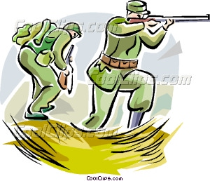 Soldiers clipart world war 1 soldier Art Vector with with weapons