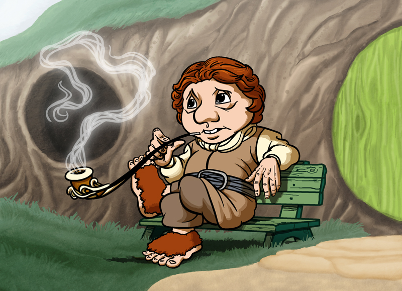 Hobbit clipart animated Com Part by TomPreston deviantart
