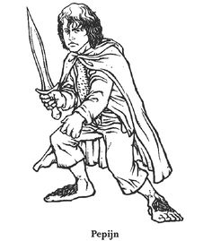 Hobbit clipart coloring page Page force  Frodo coloring