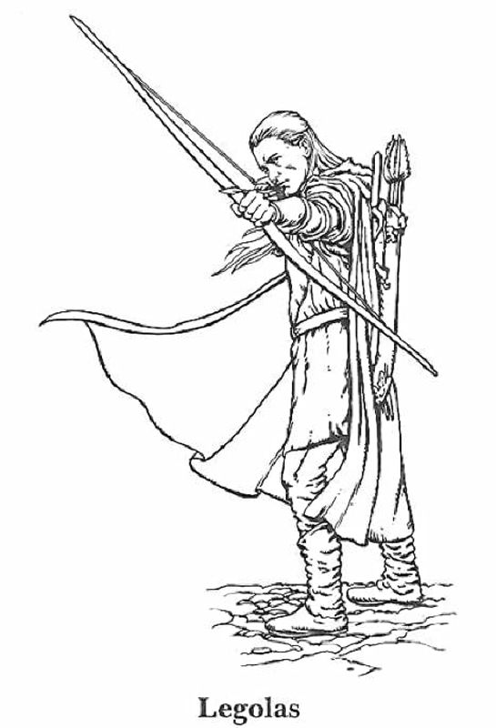 Hobbit clipart coloring page Of best Rings Coloring the