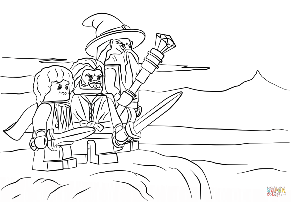 Hobbit clipart coloring page Tablets) and page with Lego