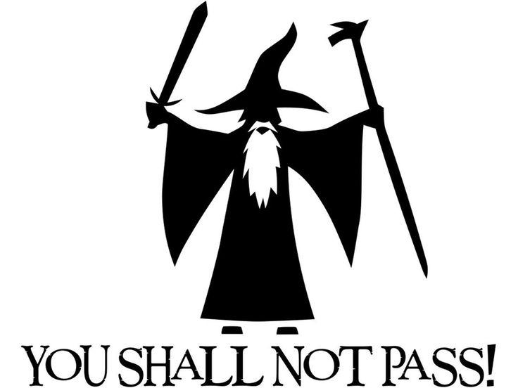 Hobbit clipart lotr Pinterest Not pass You not