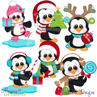 Penguin clipart holiday Clipart Files  Includes Files