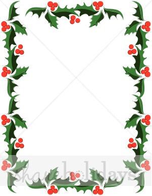 Holley clipart border Holly Holly Clipart Christmas Classic