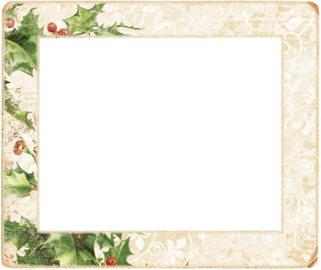 Holley clipart border landscape 487 holly Frames A Borders