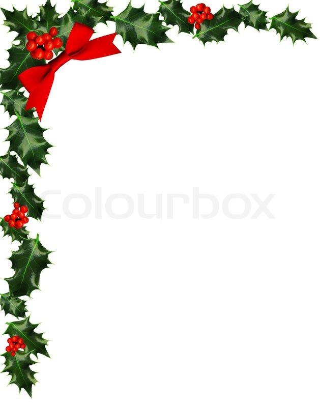 Holley clipart border landscape Holly  Border clip Collection
