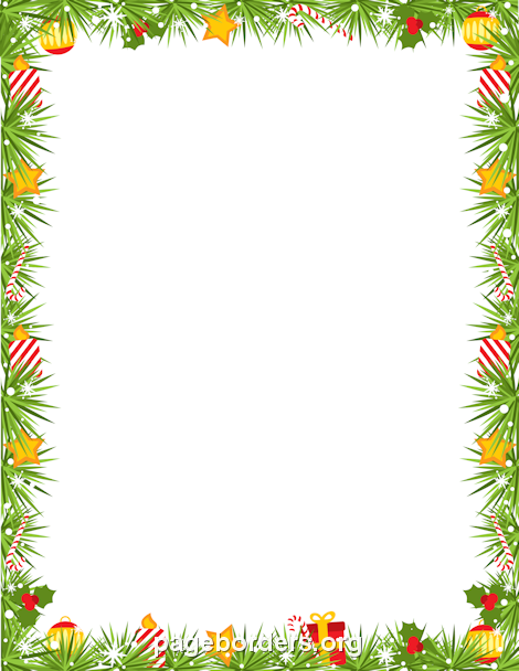 Holley clipart border landscape Garland Printable  in Christmas