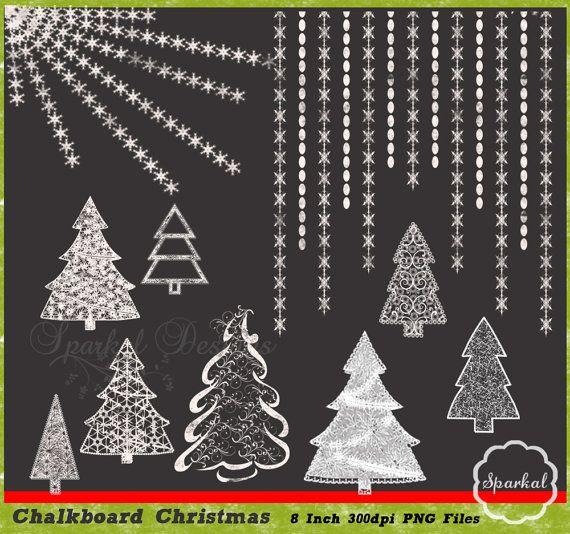 Christmas Tree clipart chalkboard ClipArt Chalkboard board Great Trees