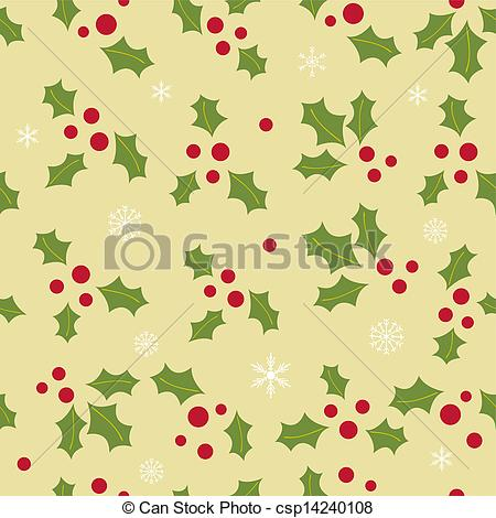 Holley clipart christmas greens Background green leaves berry Vector