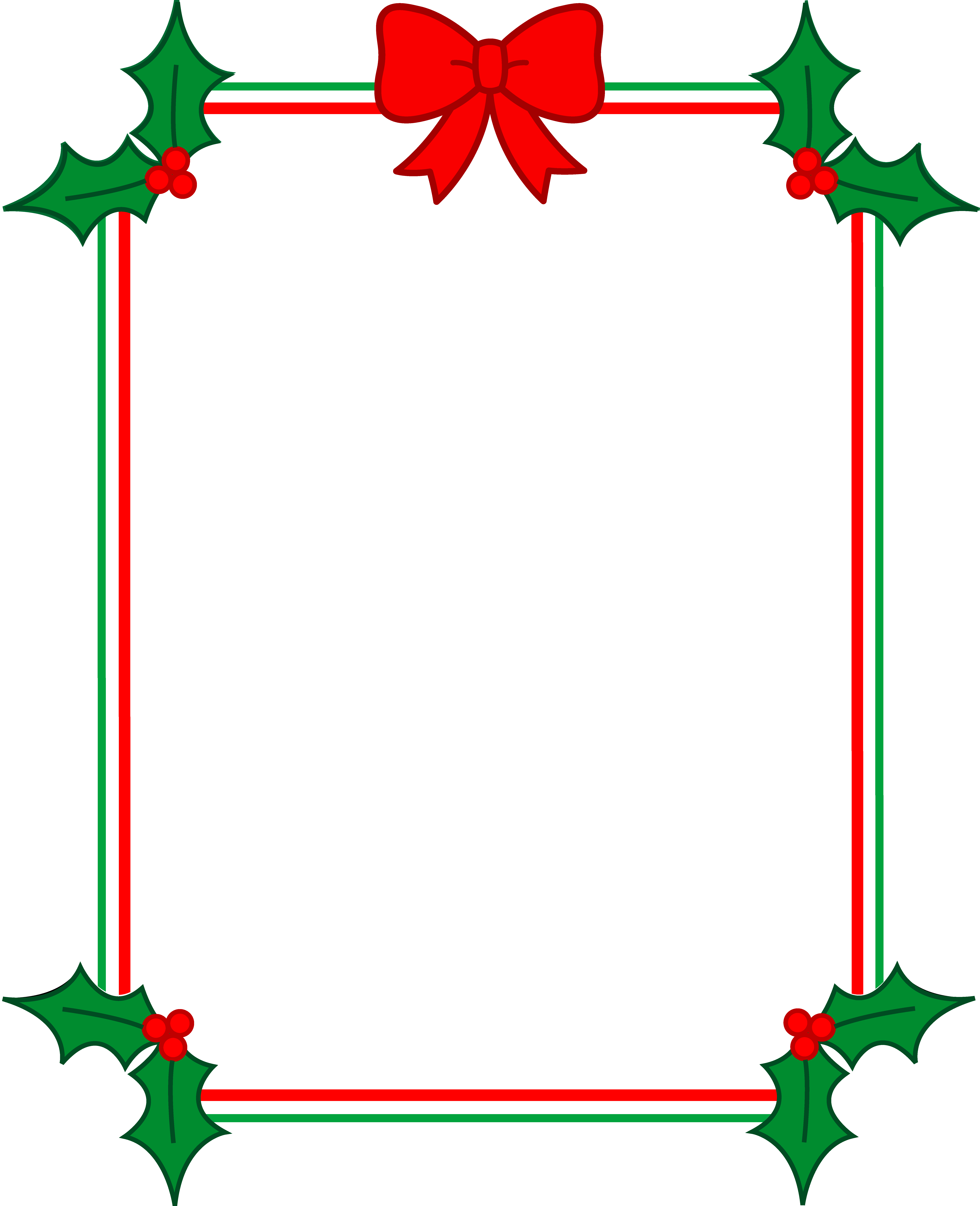 Holley clipart christmas greens And Holly Frame Free Art