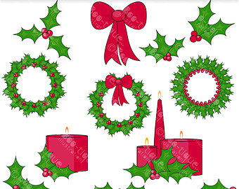 Holley clipart christmas greens Wreath Download Clip Xmas clip