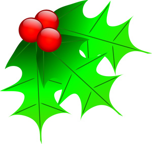 Holley clipart christmas greens Christmas of clipart  leaves