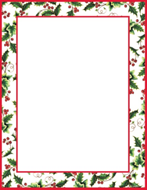 Holley clipart christmas letter Holly Letterhead free Geographics® religious