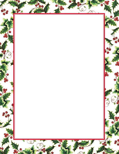 Holley clipart christmas letter Border 8 Christmas Holly Christmas