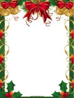 Holley clipart christmas letter Downloadable bells holly features free