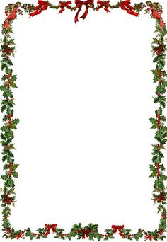Holley clipart christmas letter Thing about Printable Holiday Border