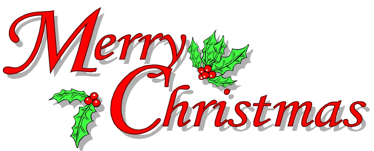 Word clipart happy holiday Chirstmas Merry Commerce Christmas Art1