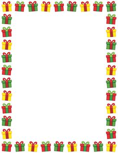 Holley clipart christmas presents border Downloadable Free GIF PDF border