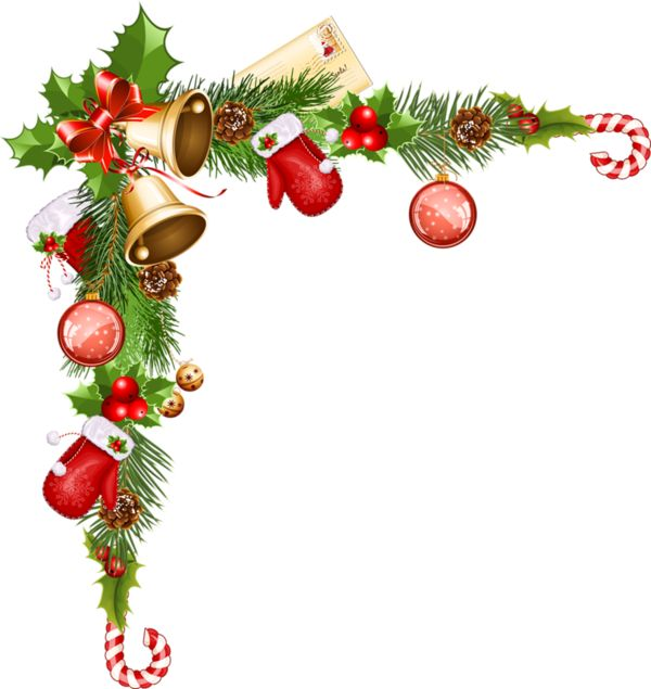 Christmas Ornaments clipart corner border Images   about 122