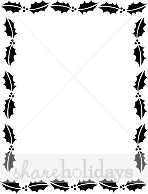 Holley clipart christmas presents border Borders in Black White Frame