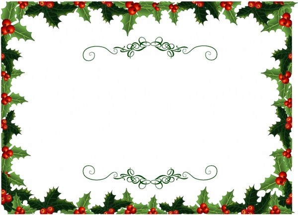 Holley clipart christmas spirit Free vector holly Holly vector