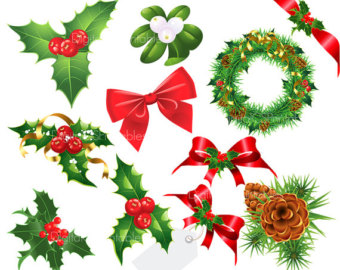 Holley clipart christmas things Holly clipart christmas Christmas Christmas