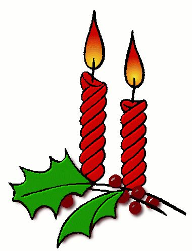 Holley clipart christmas things Candles on Holiday clip Clip