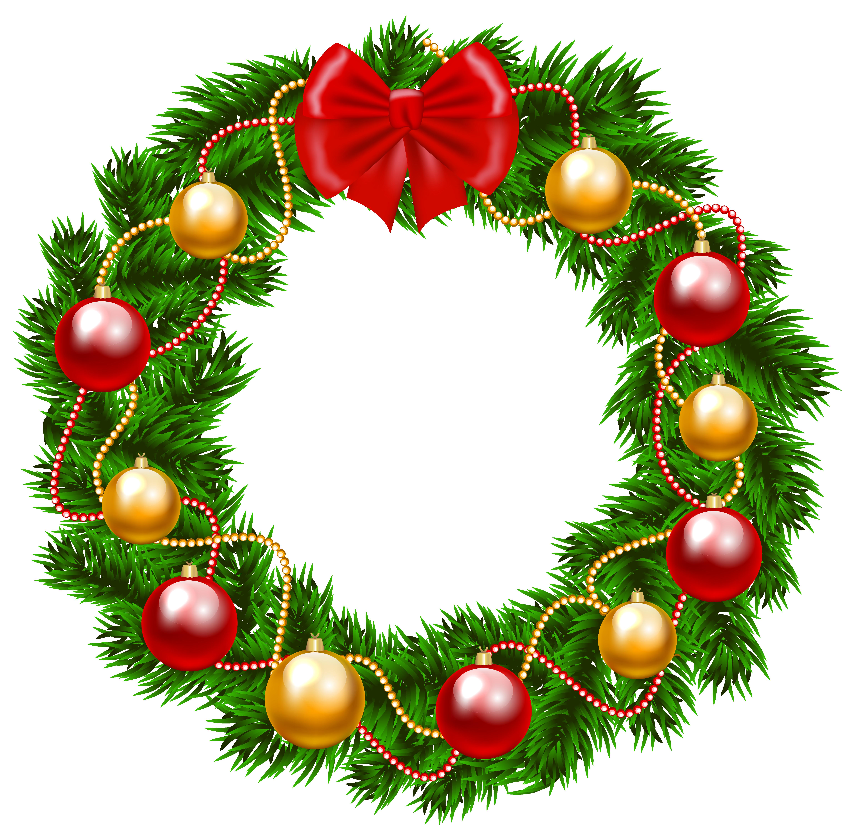 Holley clipart christmas wreath  Image Christmas Wreath Yopriceville