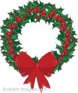 Holley clipart christmas wreath Wreath Holly Christmas collection Christmas